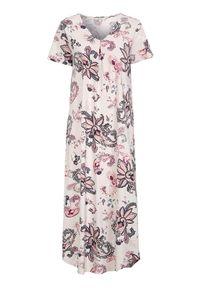 Cellbes Długa koszula nocna we wzory female ze wzorem 62/64. Materiał: bawełna. Długość: długie