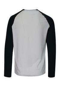 Brave Soul - Dwukolorowy T-Shirt Męski, Biało-Czarny, Koszulka z Długim Rękawem, Longsleeve -BRAVE SOUL. Okazja: na co dzień. Kolor: wielokolorowy, biały, czarny. Materiał: bawełna. Długość rękawa: długi rękaw. Długość: długie. Sezon: jesień, zima. Styl: klasyczny, casual
