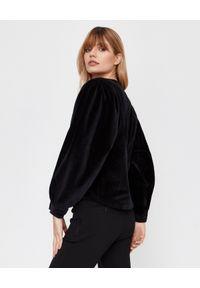 ISABEL MARANT - Bawełniana bluzka Elaviae. Okazja: na spotkanie biznesowe, na co dzień. Kolor: czarny. Materiał: bawełna. Długość rękawa: długi rękaw. Długość: długie. Styl: klasyczny, biznesowy, casual