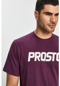 Fioletowy t-shirt Prosto. casualowy, na co dzień