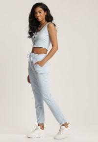 Renee - Jasnoniebieski Dwuczęściowy Komplet Dresowy Ephenea. Kolor: niebieski. Materiał: dresówka