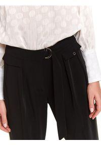 Czarne spodnie TOP SECRET z podwyższonym stanem