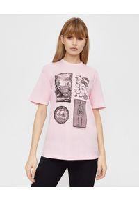 T-shirt Alexander McQueen z nadrukiem, na co dzień, casualowy