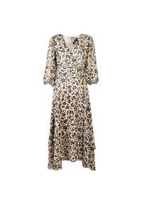 """Liu Jo - Liu-Jo Sukienka """"Manhattan"""". Okazja: na co dzień. Materiał: tkanina. Typ sukienki: proste, kopertowe. Styl: casual. Długość: midi"""