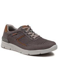 Rieker - Sneakersy RIEKER - 16425-40 Grau. Okazja: na co dzień. Kolor: szary. Materiał: skóra, nubuk. Szerokość cholewki: normalna. Styl: sportowy, casual
