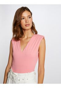 Morgan Body 212-DELI Różowy Slim Fit. Kolor: różowy