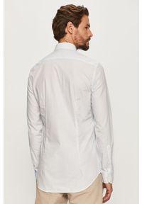 Biała koszula Tommy Hilfiger Tailored z włoskim kołnierzykiem, długa, elegancka