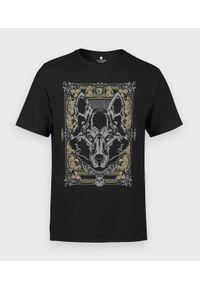 MegaKoszulki - Koszulka męska Szary Wilk. Kolor: szary. Materiał: bawełna