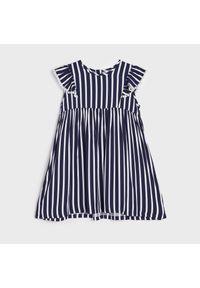 Niebieska sukienka Sinsay w paski