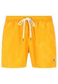 Champion Szorty kąpielowe Small C Logo Swim 214453 Żółty Regular Fit. Kolor: żółty