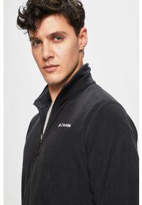 Czarna bluza rozpinana columbia bez kaptura, z nadrukiem
