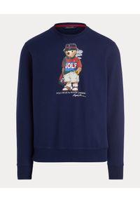 Ralph Lauren - RALPH LAUREN - Bluza z misiem Golf Bear. Okazja: na co dzień. Typ kołnierza: golf. Kolor: niebieski. Materiał: tkanina. Wzór: nadruk. Styl: sportowy, casual