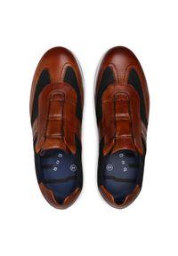 Bugatti - Półbuty BUGATTI - 311-45061-4169-6341 Cognac/Dark Blue. Okazja: na co dzień. Kolor: brązowy. Materiał: skóra, materiał. Szerokość cholewki: normalna. Styl: klasyczny, sportowy, elegancki, casual