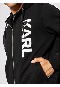 Karl Lagerfeld - KARL LAGERFELD Bluza 705038 511900 Czarny Regular Fit. Typ kołnierza: dekolt w karo. Kolor: czarny