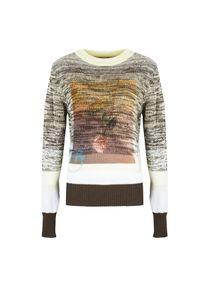 """Pinko Sweter """"Franca"""". Okazja: na co dzień. Materiał: bawełna. Długość rękawa: długi rękaw. Długość: długie. Wzór: kwiaty, nadruk. Styl: casual"""