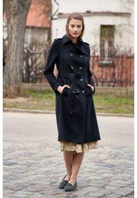 Marie Zélie - Trencz Adria bawełna z elastanem czarny. Kolor: czarny. Materiał: bawełna, elastan. Sezon: lato. Styl: klasyczny