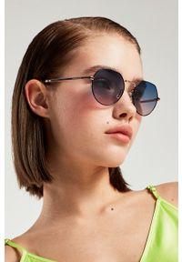 Hawkers - Okulary przeciwsłoneczne AURA - SUNRISE. Kształt: okrągłe. Kolor: niebieski