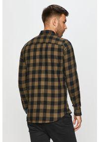 Oliwkowa koszula PRODUKT by Jack & Jones długa, na co dzień
