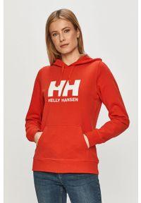 Czerwona bluza Helly Hansen długa, z kapturem