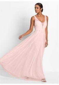 Różowa sukienka bonprix wizytowa, na wesele
