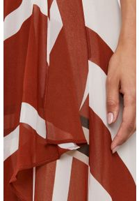 DKNY - Dkny - Sukienka. Okazja: na co dzień. Materiał: tkanina. Długość rękawa: na ramiączkach. Typ sukienki: proste, asymetryczne. Styl: casual