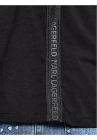 Karl Lagerfeld - KARL LAGERFELD Polo 745020 511221 Czarny Regular Fit. Typ kołnierza: polo. Kolor: czarny