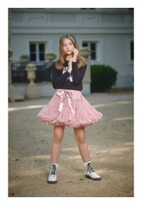 LaVashka Spódnica 10-B Różowy Regular Fit. Kolor: różowy