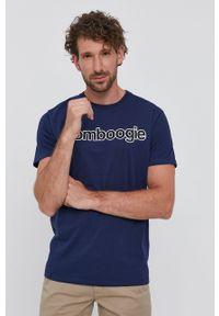 Bomboogie - T-shirt. Okazja: na co dzień. Kolor: niebieski. Materiał: dzianina. Styl: casual