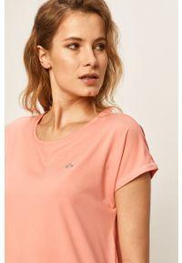 Only Play - T-shirt. Okazja: na co dzień. Kolor: różowy. Materiał: elastan, dzianina, poliester. Wzór: gładki. Styl: casual #2