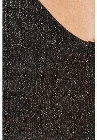Czarna bluzka Vila casualowa, długa, na co dzień