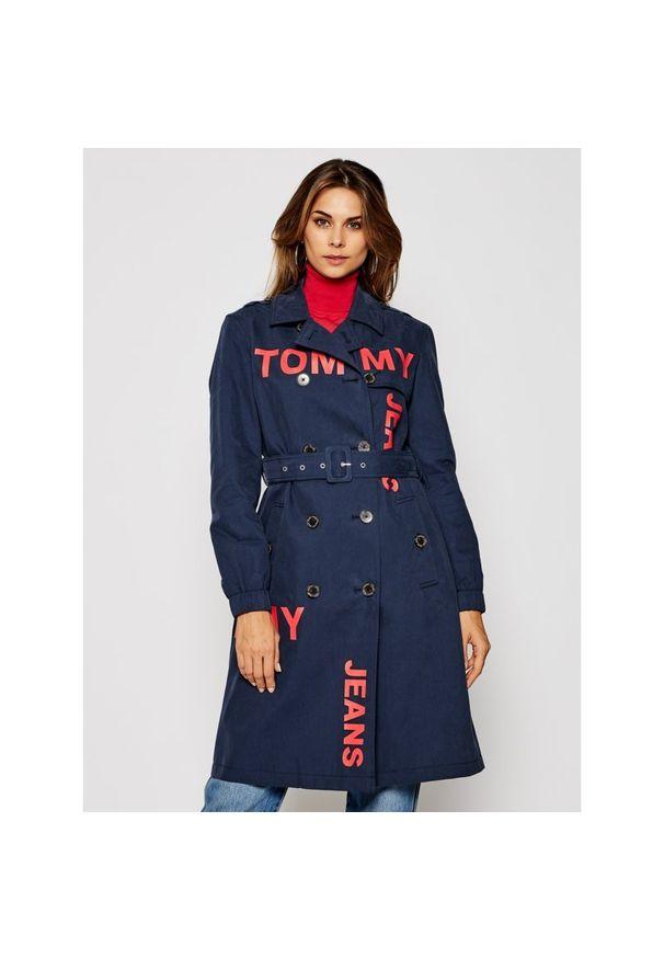 Niebieski trencz Tommy Jeans