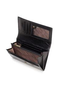 Wittchen - Damski portfel skórzany z kieszonką na zamek. Kolor: czarny. Materiał: skóra
