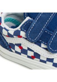 Niebieskie półbuty Vans na rzepy, z cholewką