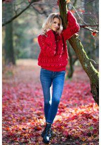 Czerwony sweter Fobya krótki