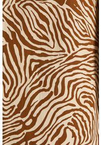 Samsoe & Samsoe - Samsoe Samsoe - Sukienka. Okazja: na co dzień. Kolor: brązowy. Materiał: bawełna, tkanina. Długość rękawa: długi rękaw. Typ sukienki: proste. Styl: casual