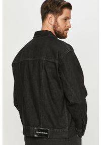 Czarna kurtka Calvin Klein Jeans casualowa, bez kaptura, na co dzień