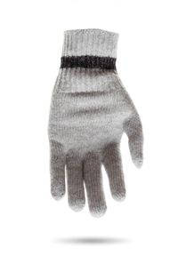 Szare rękawiczki Ice Play w kolorowe wzory