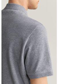 Szara koszulka polo Mango Man krótka, na co dzień, casualowa, polo