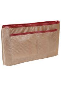 Czerwona torba na laptopa MCKLEIN w kolorowe wzory, klasyczna