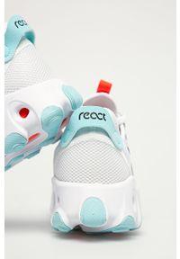 Białe buty sportowe Nike Sportswear na obcasie, na sznurówki, z cholewką, z okrągłym noskiem