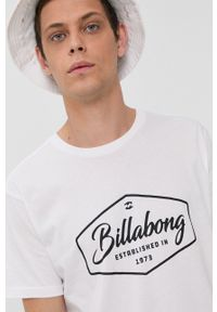 Billabong - T-shirt bawełniany. Okazja: na co dzień. Kolor: biały. Materiał: bawełna. Wzór: nadruk. Styl: casual