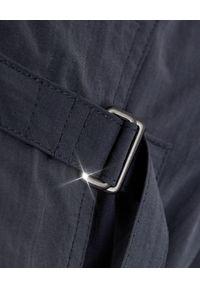 ISABEL MARANT - Płaszcz Ilifawn Faded Black. Okazja: na spacer. Kolor: niebieski. Materiał: materiał. Długość: długie. Sezon: wiosna
