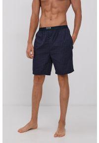 BOSS - Boss - Szorty piżamowe. Kolor: fioletowy. Materiał: bawełna, tkanina