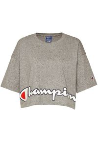 Szary t-shirt Champion z nadrukiem