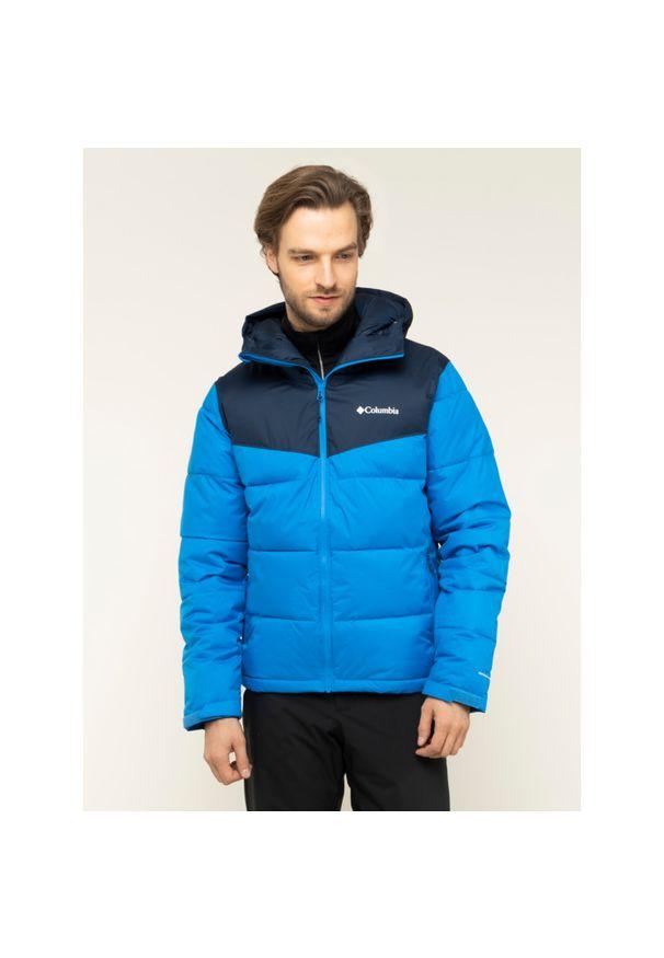 Niebieska kurtka narciarska columbia