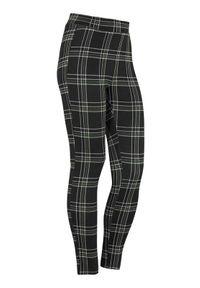 Cellbes Żakardowe legginsy w kratkę zielony w kratkę female zielony/ze wzorem 62/64. Kolor: zielony. Materiał: żakard. Wzór: kratka