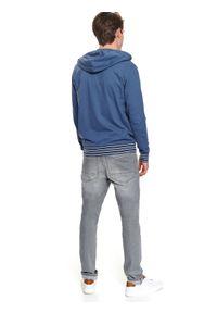 Niebieska bluza TOP SECRET z kapturem