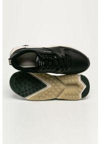 Czarne sneakersy GANT na sznurówki, z okrągłym noskiem, z cholewką