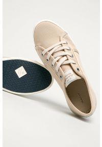 GANT - Gant - Tenisówki Leisha. Nosek buta: okrągły. Zapięcie: sznurówki. Kolor: beżowy. Materiał: guma. Obcas: na platformie