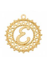 MOKOBELLE - Pozłacany naszyjnik z kulkami i literką 50-60 cm. Materiał: pozłacane. Kolor: złoty. Wzór: ażurowy, aplikacja #9